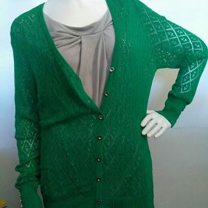 🍒 Alberto Makali🍒 Emerald green Crochet Cardigan